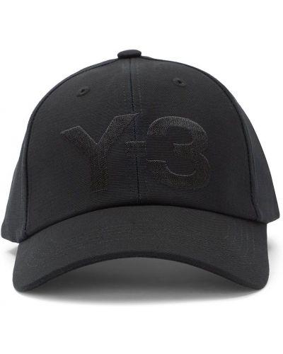 Бейсбольная черная бейсболка с вышивкой Y-3