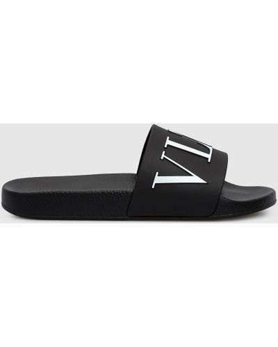 Черные шлепанцы Valentino