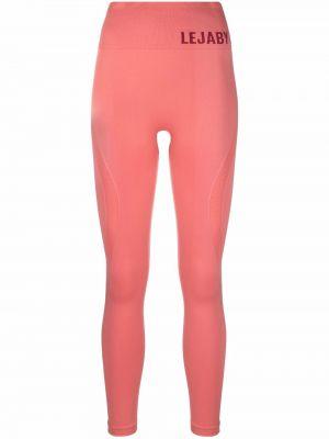 Różowe spodnie z printem Maison Lejaby