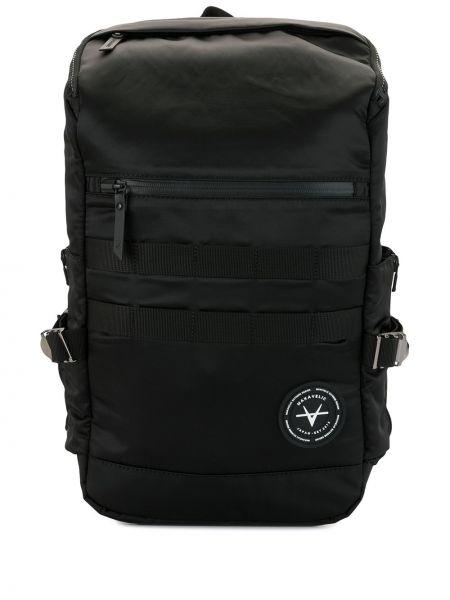 Нейлоновый черный рюкзак на бретелях на молнии Makavelic