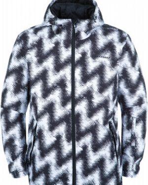Нейлоновая черная зимняя куртка на молнии сноубордическая Exxtasy