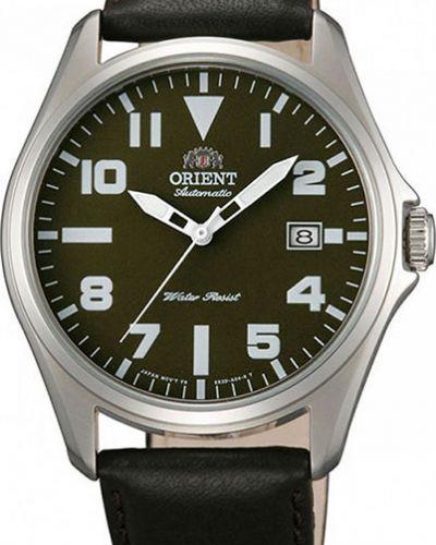 Часы механические водонепроницаемые с кожаным ремешком Orient