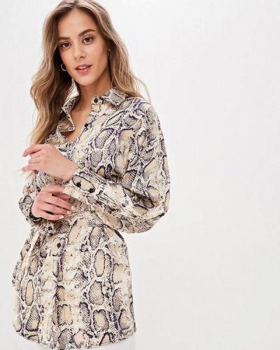 Блузка с длинным рукавом весенний бежевый Kira Mesyats