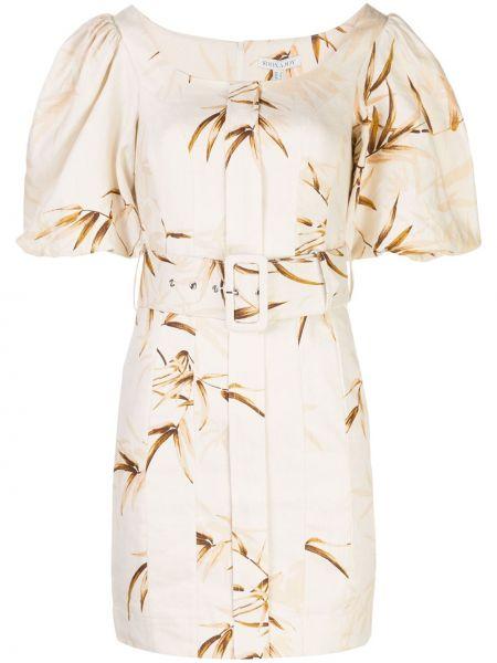 Белое прямое платье мини с вырезом с короткими рукавами Shona Joy
