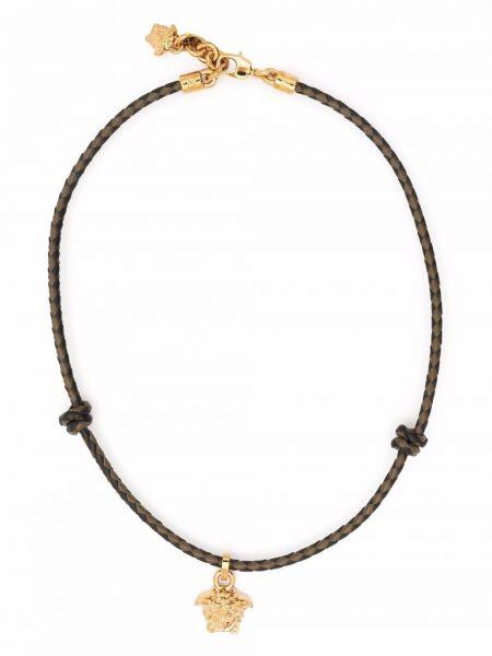 Zielony naszyjnik łańcuch Versace