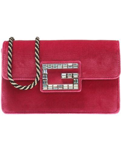 Czerwona kopertówka zamszowa Gucci