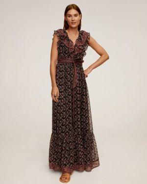 Платье с поясом в стиле бохо с цветочным принтом Mango