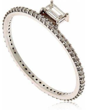 Biały złoty pierścionek z diamentem Sarah Noor