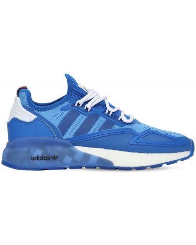 Ażurowy niebieski sneakersy na sznurowadłach Adidas Originals