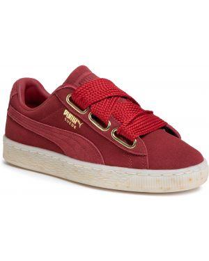 Skórzane sneakersy zamszowe Puma