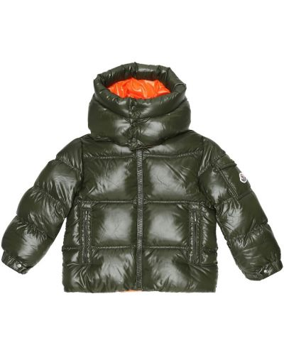 Zielona kurtka puchowa Moncler Enfant