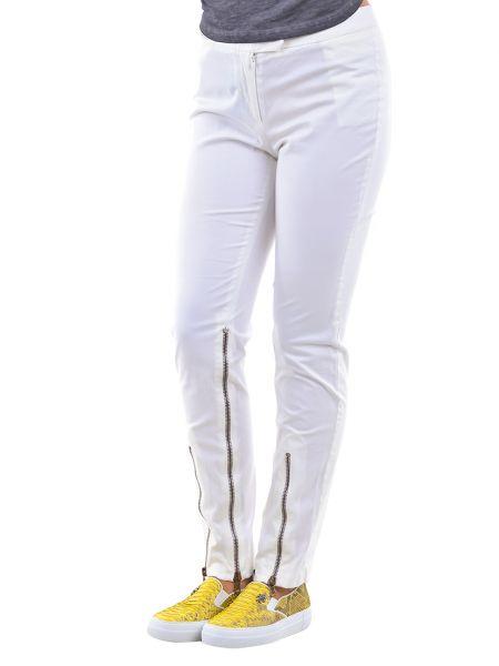 Хлопковые брюки - белые Costume National