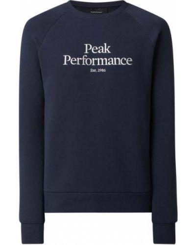 Bluza bawełniana - niebieska Peak Performance