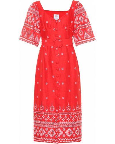 Льняное платье миди Gül Hürgel