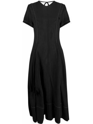 Платье мини миди черное Loewe