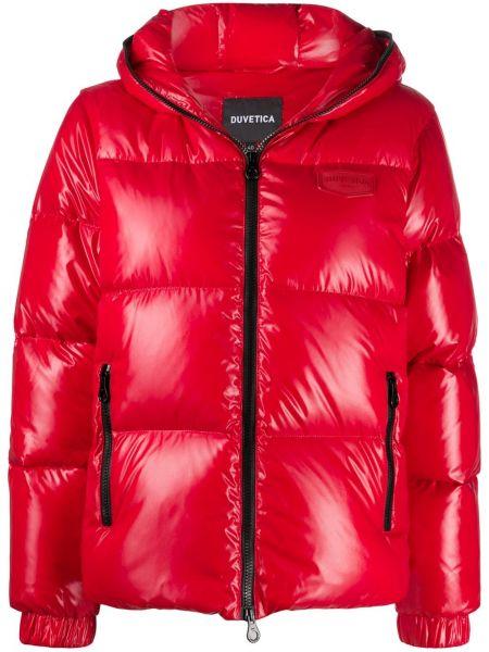 Классическая красная куртка с капюшоном с манжетами с карманами Duvetica