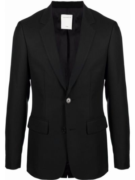 Czarny garnitur zapinane na guziki Sandro Paris