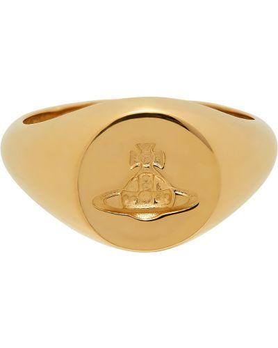 Złoty pierścionek Vivienne Westwood