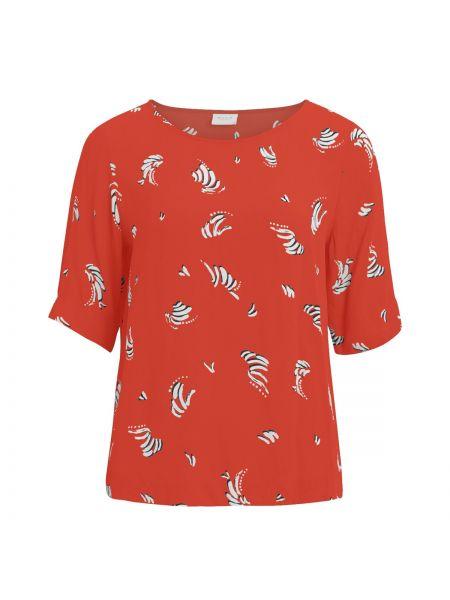 Блузка с коротким рукавом с вырезом из вискозы Vila