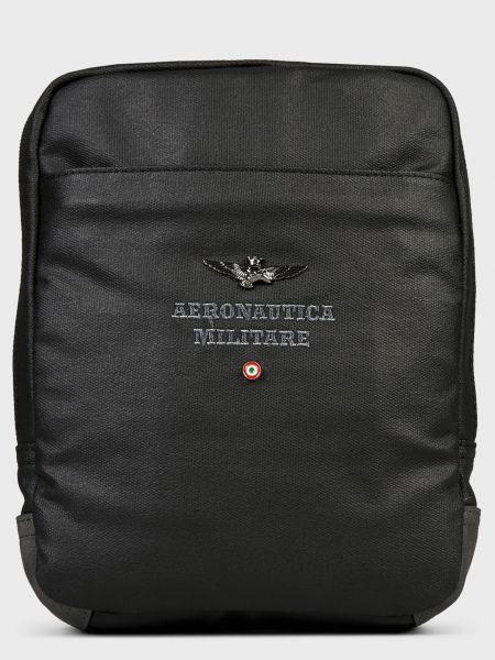 Текстильная сумка - черная Aeronautica Militare