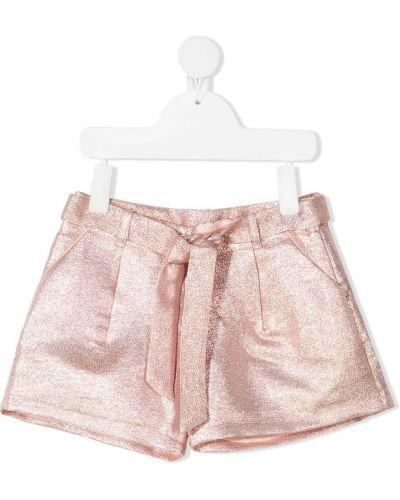 Розовые с завышенной талией шорты с карманами Billieblush
