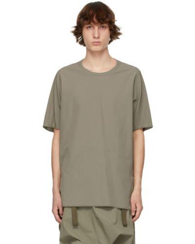 Zielony t-shirt krótki rękaw z nylonu Acronym