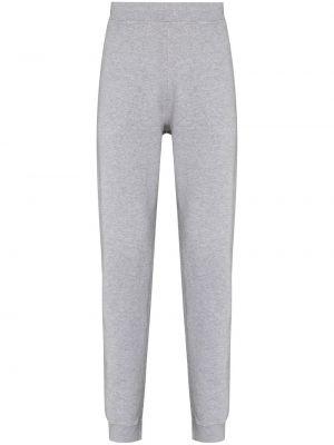 Серые брюки с карманами Sunspel