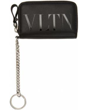 Etui na klucze skórzany czarny Valentino