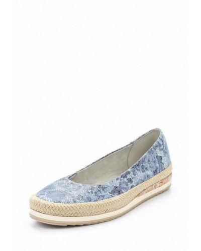 Синие замшевые туфли Marco Tozzi