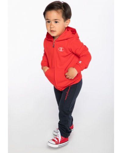Czerwony garnitur dresowy bawełniany Champion