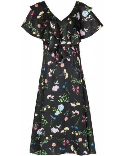 Платье миди с цветочным принтом из штапеля Paper London