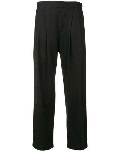 Черные укороченные брюки с поясом Rodebjer