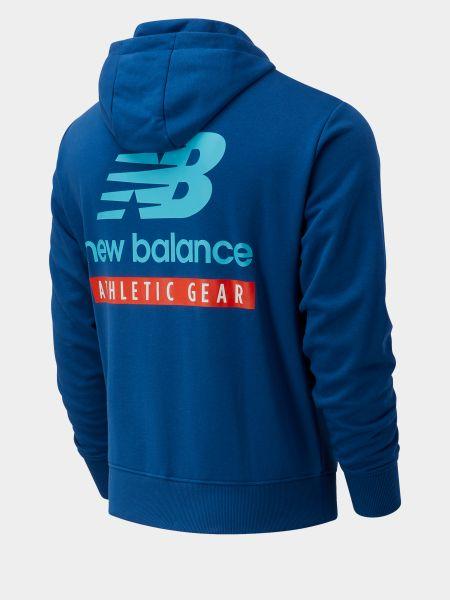 Синяя кофта с капюшоном New Balance