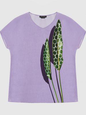Шелковая сиреневая блузка Marina Rinaldi