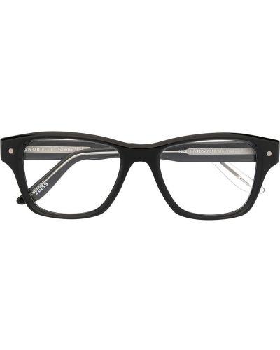 Czarne okulary z printem Snob