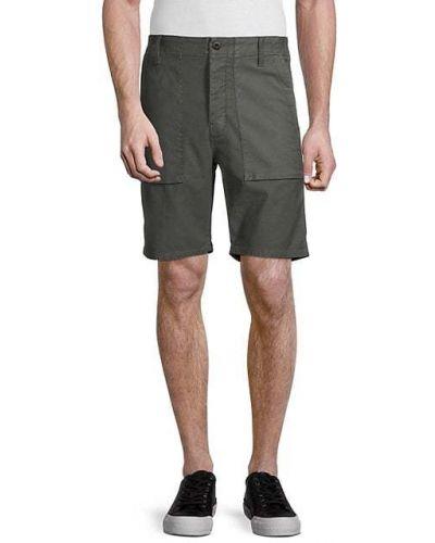 Хлопковые зеленые шорты карго с карманами J Brand