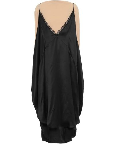 Czarny sukienka midi z wiskozy Mm6 Maison Margiela
