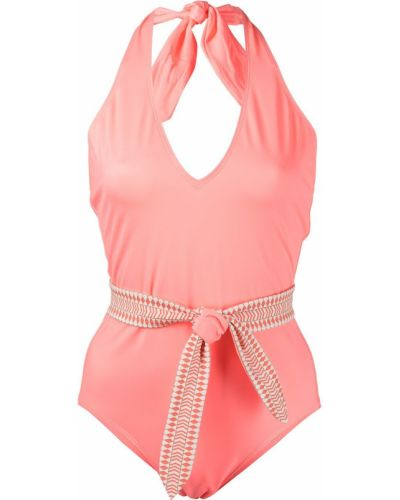 Пляжный купальник - розовый Lemlem