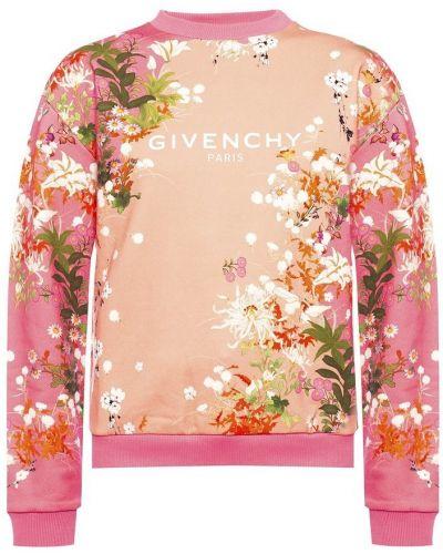 Różowa bluza z długimi rękawami bawełniana Givenchy