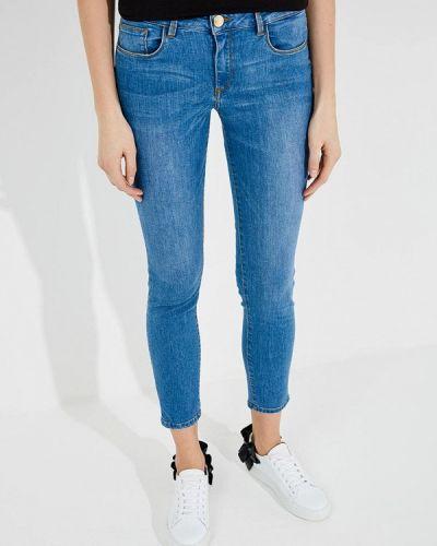 Голубые джинсы-скинни Trussardi Jeans