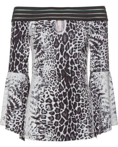 Блузка с принтом с леопардовым принтом Bonprix
