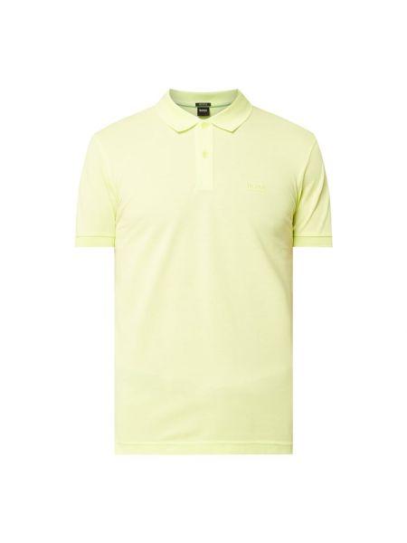 T-shirt bawełniana - żółta Boss Athleisurewear