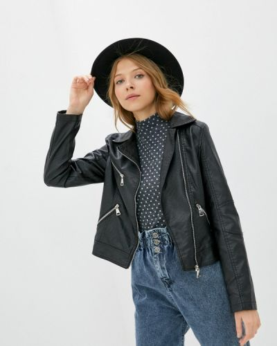Черная кожаная куртка Z-design