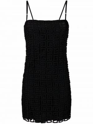 Sukienka z haftem - czarna Givenchy