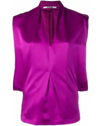 Топ без рукавов - фиолетовый Chalayan