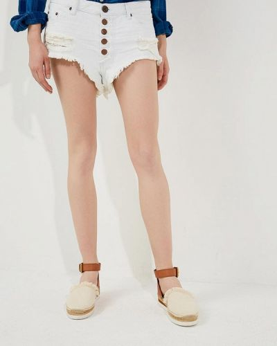 Белые джинсовые шорты One Teaspoon