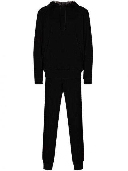 Czarny dres z wiskozy Fendi