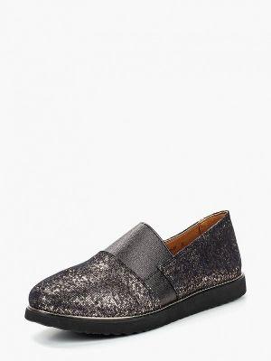 Туфли велюровые золотого цвета Shoiberg