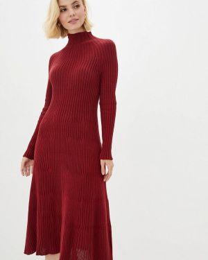 Клубное красное вязаное платье Nataclub
