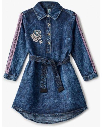 Повседневное синее джинсовое платье Acoola